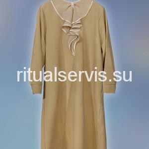 Платье похоронное с объемным воротом женское
