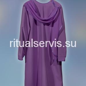Платье похоронное с накидным шарфом женское