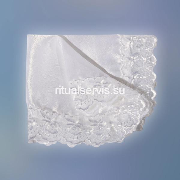 Носовой платок с вышивкой белый