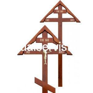 """Крест на могилу """"Домик"""" из сосны"""
