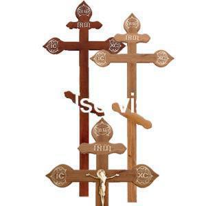 """Крест на могилу """"Дубовый фигурный"""""""