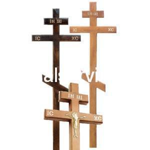 """Крест на могилу """"Прямой"""" сосновый"""