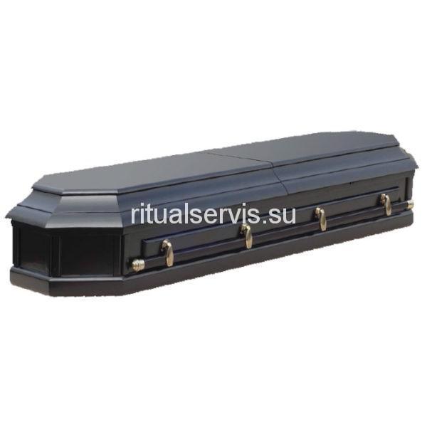 Гроб лакированный восьмигранный двухкрышечный