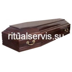 """Гроб лакированный """"Гранд"""" шестигранный"""
