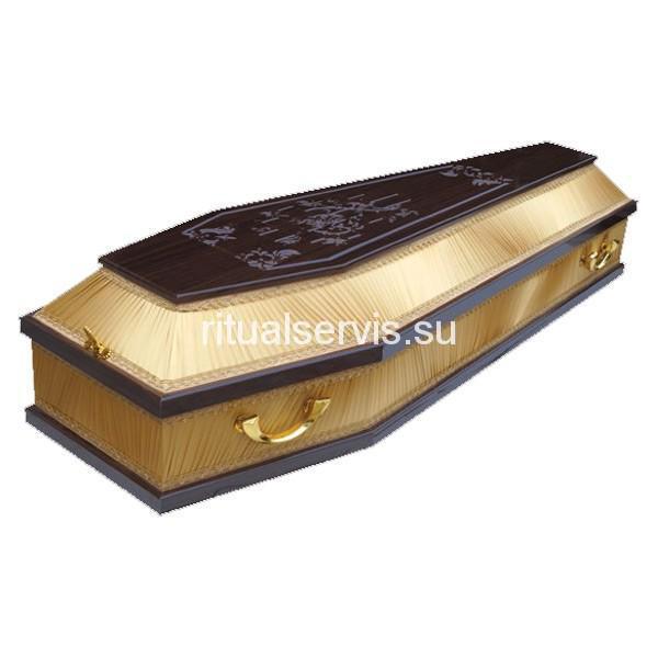 """Гроб комбинированный """"Ламинат Комби"""" с узором (К2-Т)"""