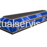 """Гроб комбинированный прямоугольный """"Комби классик"""", синий"""