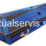 """Гроб обитый шелковой тканью """"Лотус"""", синий"""