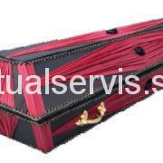 """Гроб обитый шелковой тканью """"Лотус"""", бордо"""