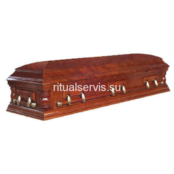 """Гроб-саркофаг """"Американец"""" двухкрышечный"""