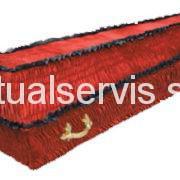 """Гроб обитый велюром деревянный """"Девандек"""", красный"""