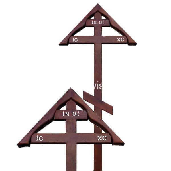 """Крест на могилу """"Домик"""" дубовый"""