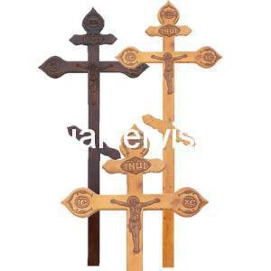 """Крест на могилу """"Фигурный с декором"""" сосна"""