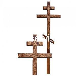 """Крест на могилу """"Лоза"""" сосновый"""