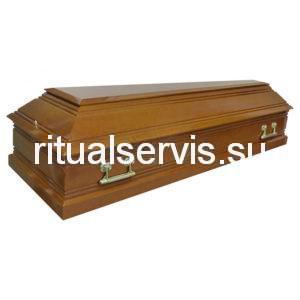 """Гроб лакированный """"Пегас"""" четырехгранный светлый"""