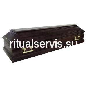 """Гроб лакированный """"Пегас"""" четырехгранный темный"""