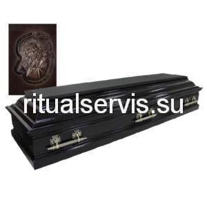 """Гроб четырехгранный """"Пегас"""" с резьбой венге"""