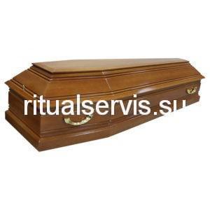 """Гроб лакированный шестигранный """"Пегас"""" светлый"""