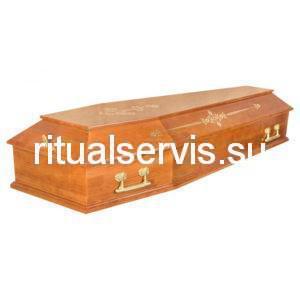 """Гроб лакированный Б2 """"Питер"""" шестигранный с узором"""