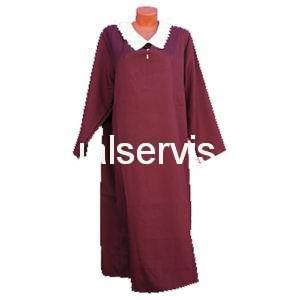 Платье похоронное с белым воротом женское