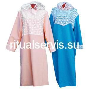 Платье похоронное с капюшоном женское