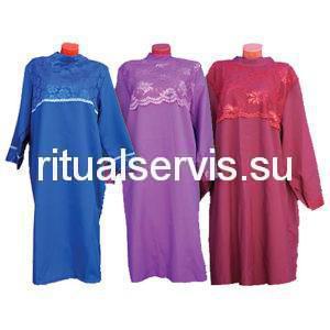Платье похоронное с кружевом женское (в ассортименте)