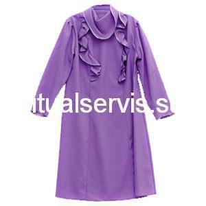 Платье похоронное с необычным воротом женское