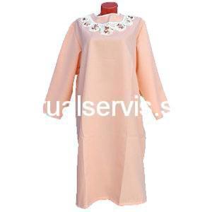 Платье похоронное с оригинальной отделкой женское