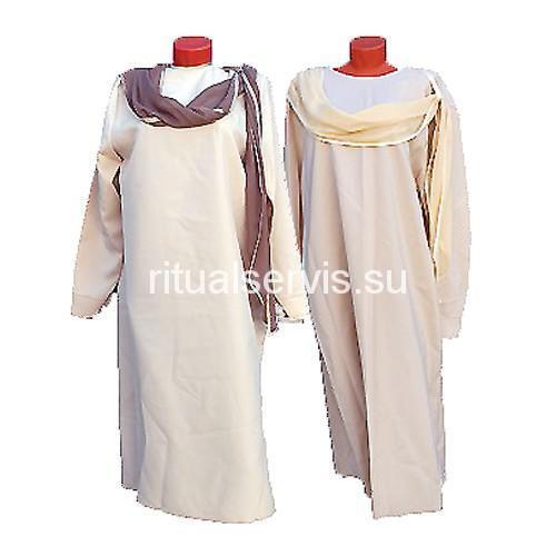 Платье похоронное с шарфом женское