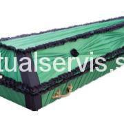 """Гроб обитый шелком """"Сириус"""", зеленый"""