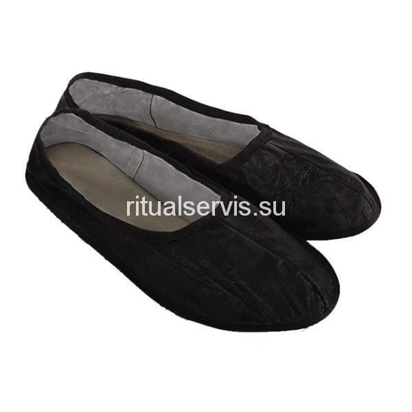 Тапочки черные похоронные