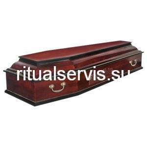 """Гроб шестигранный """"Тайная Вечеря"""" темный"""