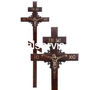 """Крест на могилу сосна """"Угловой узор"""""""