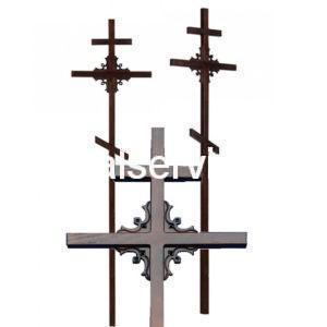 """Крест на могилу """"Угловой"""" сосновый"""