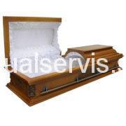 """Гроб с плоской крышкой """"Вегас-Ангел"""" светлый"""