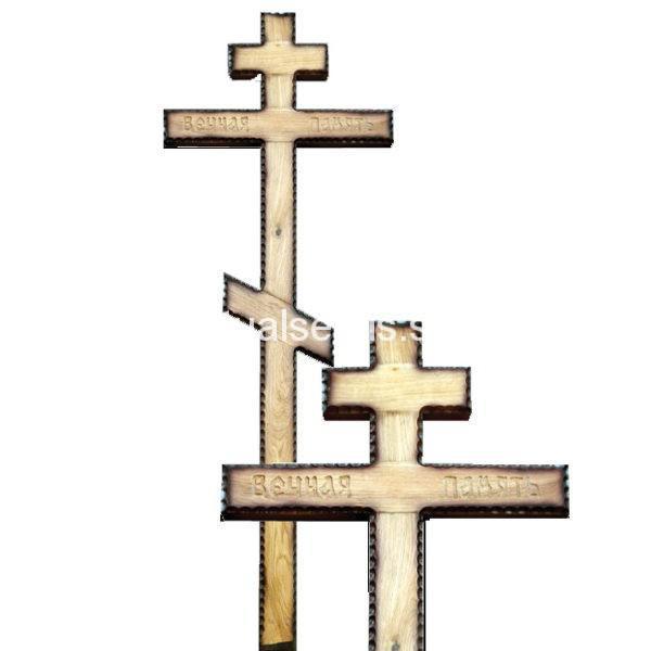 """Крест на могилу """"Вечная память"""" с патиной дуб"""