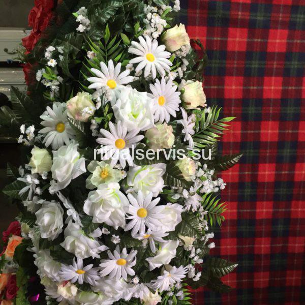 """Венок на похороны """"Память"""" белый"""