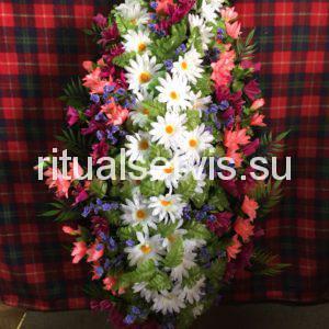 """Венок на похороны """"Ромашки и мелкие цветы"""""""