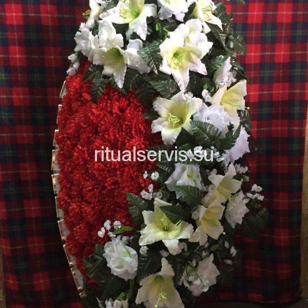 """Венок на похороны """"Лилии, розы, гвоздики"""""""