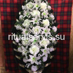 """Венок на похороны элитный """"Белые цветы"""""""
