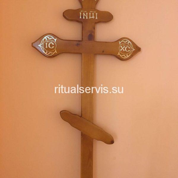 Классический крест на могилу сосновый