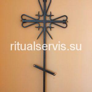 Крест на могилу ритуальный металлический
